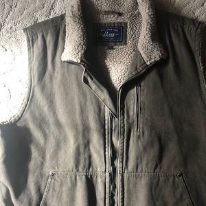 G.H. Bass Canvas with Sherpa Vest